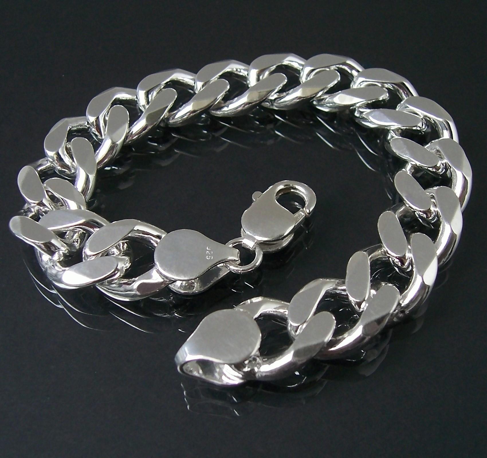 Armband Silberarmband Panzerarmband Sterlingsilber 1,3x 23cm 135130-23