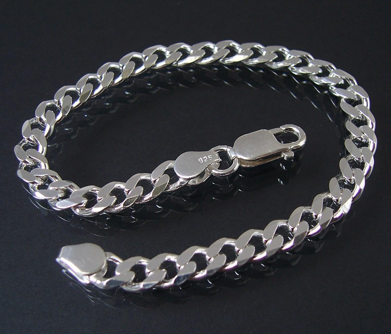 Armband Silberarmband Panzerarmband Sterlingsilber 5,5mm 19cm 13555-19