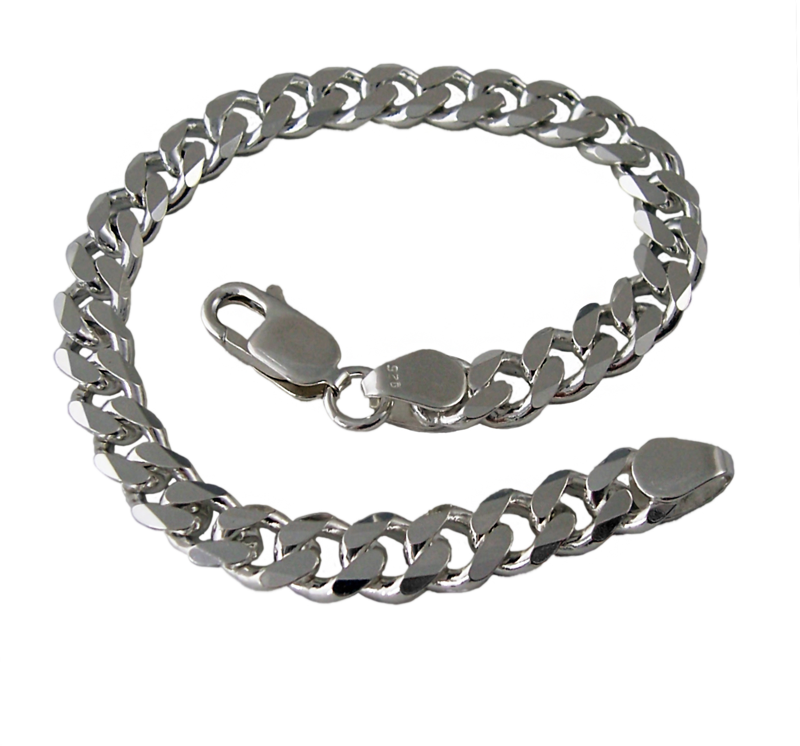Niklarson Panzerarmband 7,3mmx23cm Sterling Silber 925 Silberarmband 13573-23