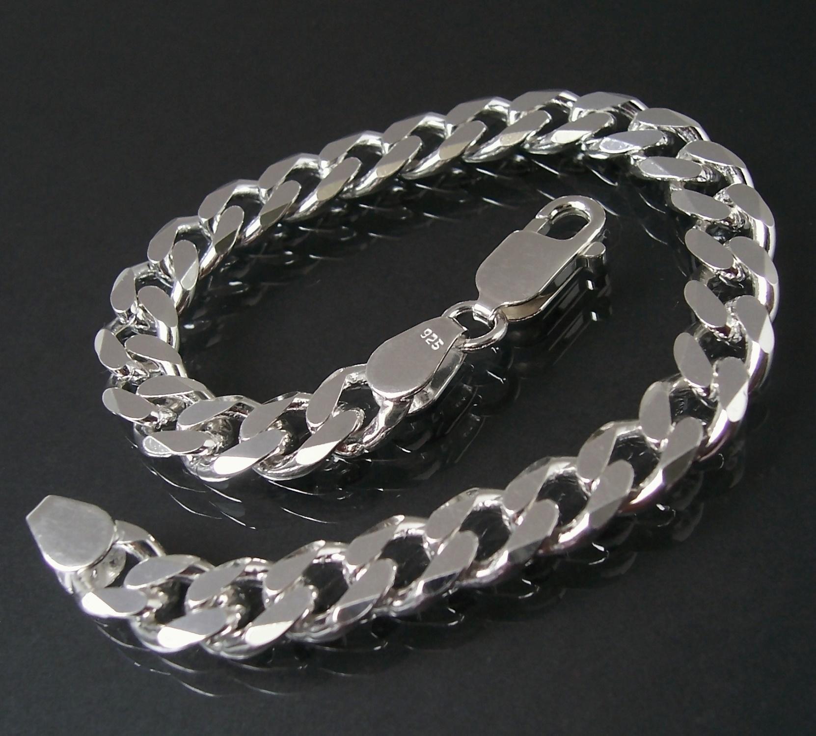Armband Silberarmband Panzerarmband Sterlingsilber 8mm 21cm 13580-21