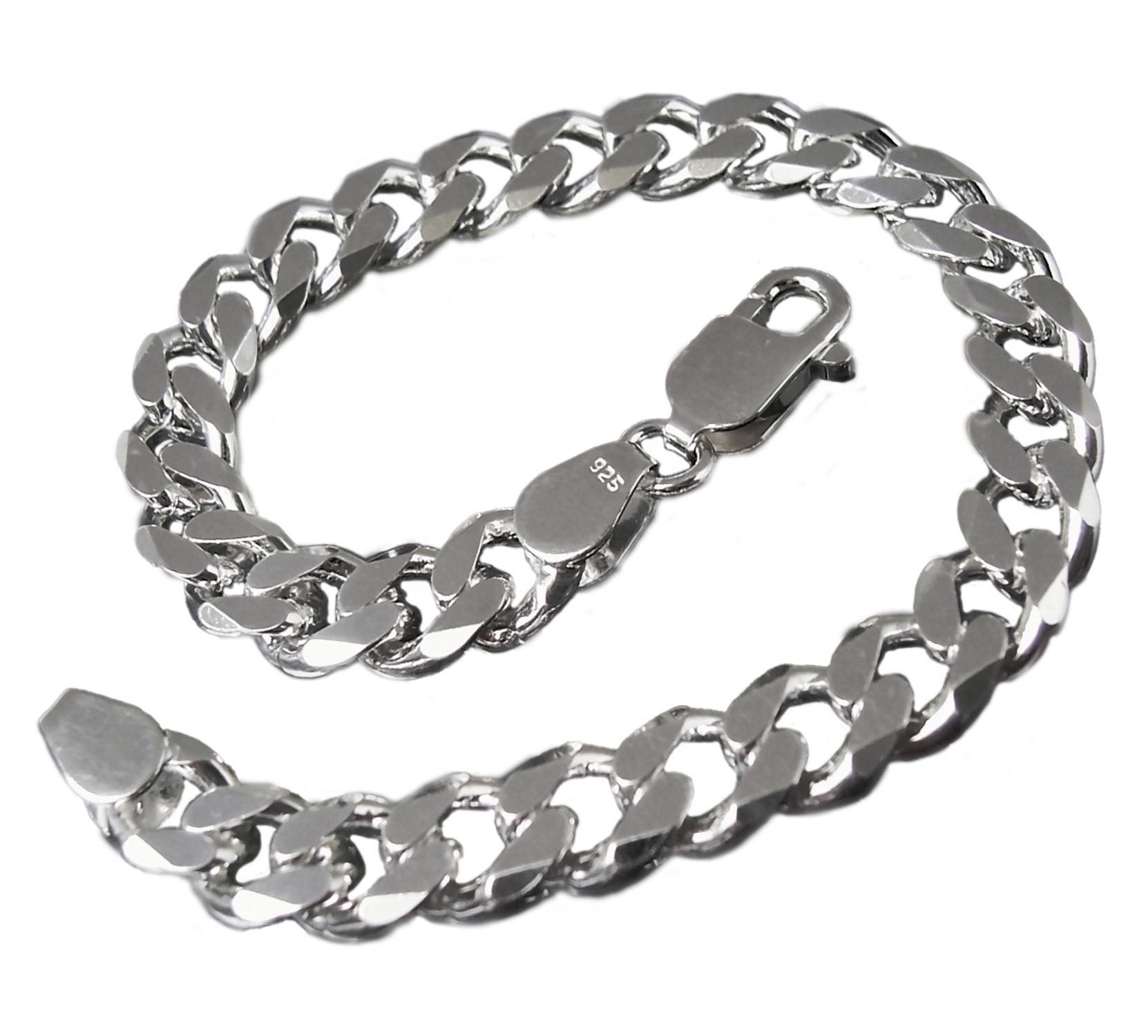 Niklarson Panzerarmband 8,0mmx23cm Sterling Silber 925 Silberarmband 13580-23