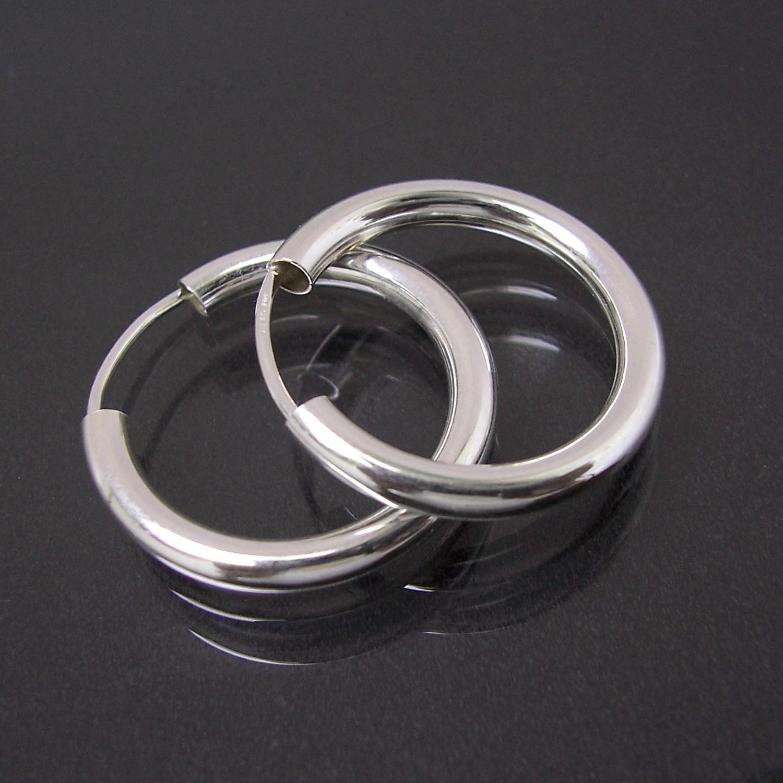 Creolen Silber 925 Niklarson Ohrringe 2cm Rohrcreolen 14125-20