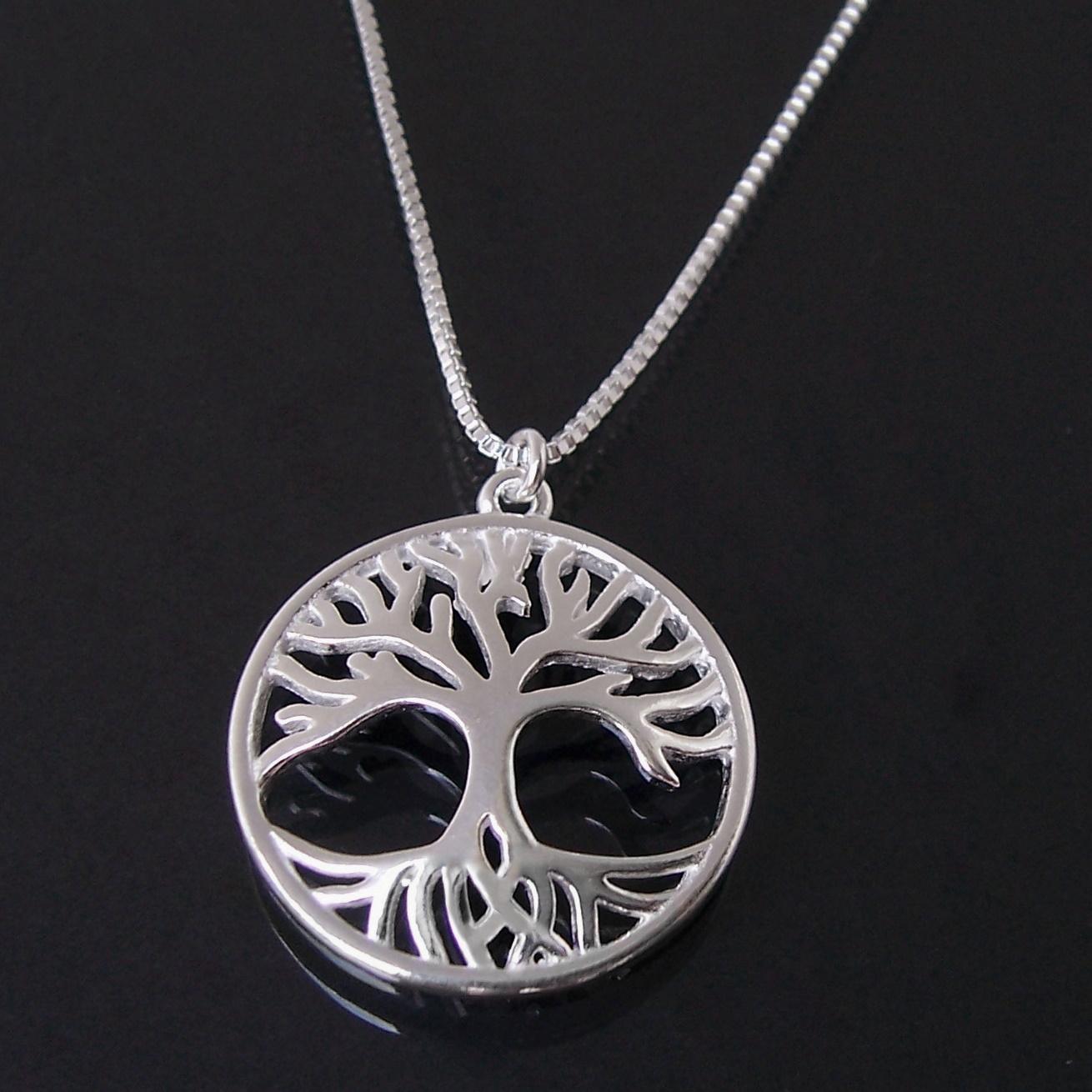 Kette aus 925 Silber Veneziakette 41-44cm Lebensbaum Echtschmuck 1581245