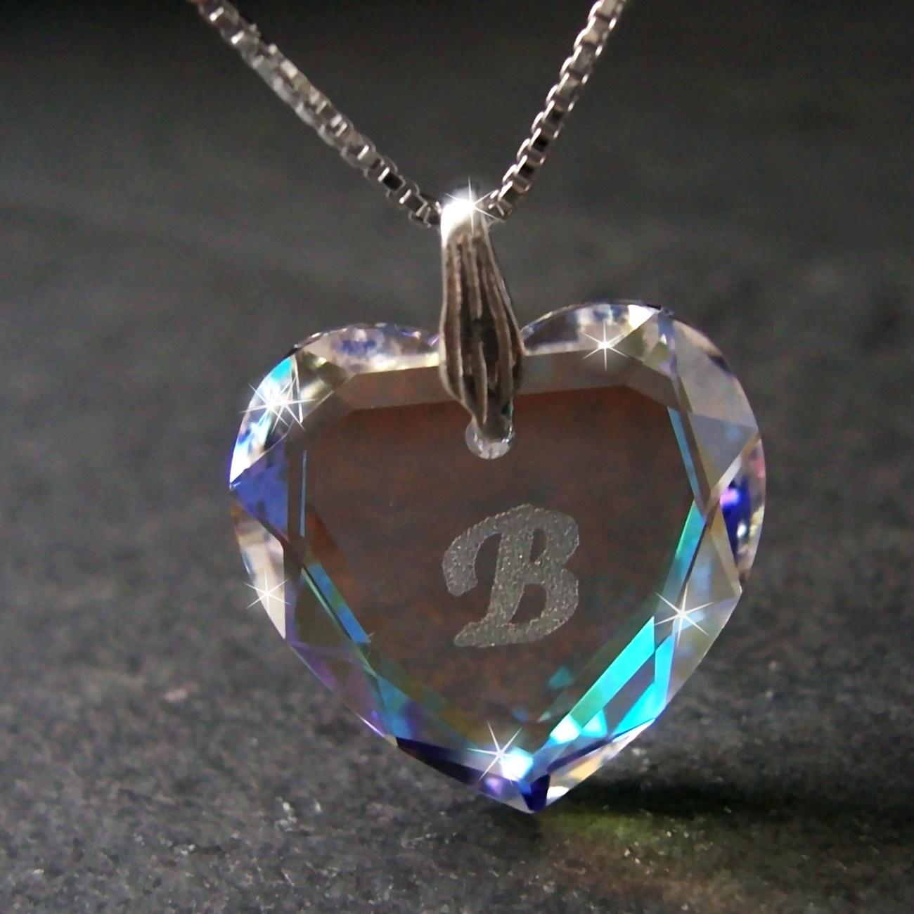 Kette 925 Silber Venezia 45cm Herz Swarovski Kristall BlueAB 1631245-B