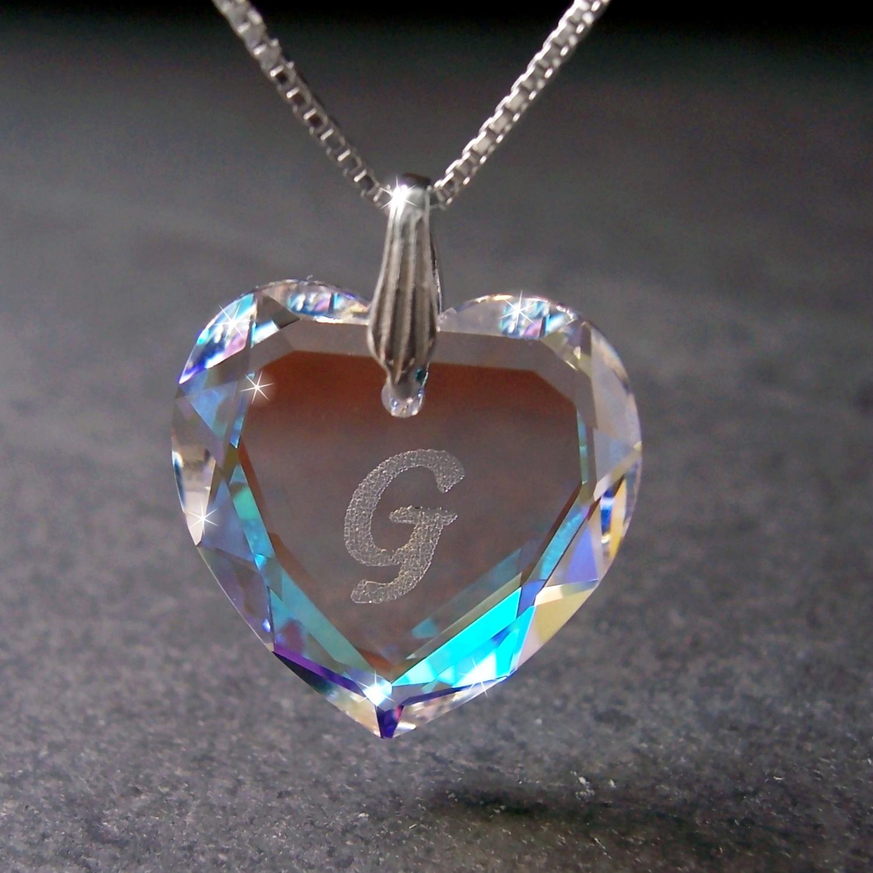 Kette 925 Silber Venezia 45cm Herz Swarovski Kristall BlueAB 1631245-G