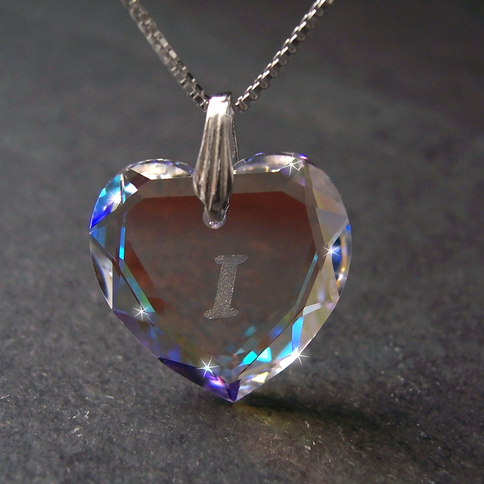 Kette 925 Silber Venezia 45cm Herz Swarovski Kristall BlueAB 1631245-i