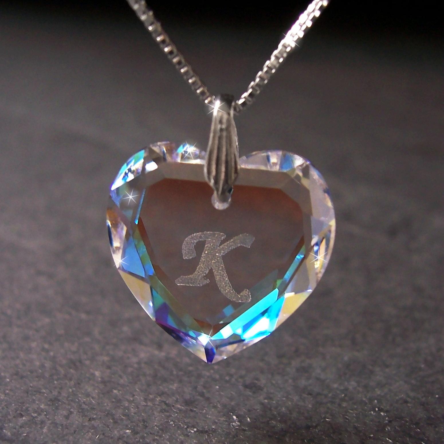Kette 925 Silber Venezia 45cm Herz Swarovski Kristall BlueAB 1631245-K