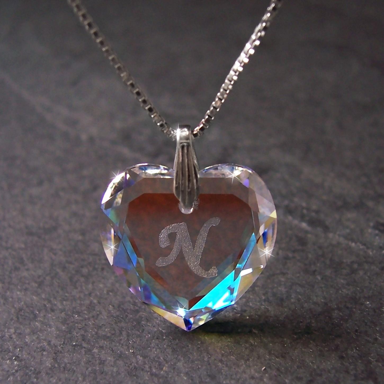 Kette 925 Silber Venezia 45cm Herz Swarovski Kristall BlueAB 1631245-N