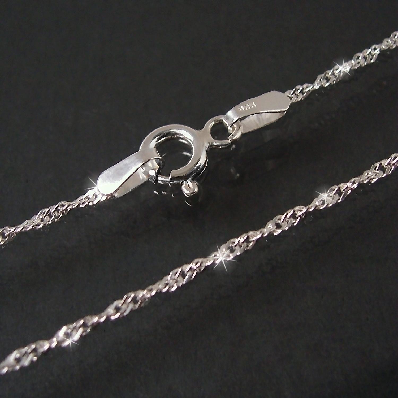 Kette Singapurkette 925 Silber 1,5mm Niklarson Halskette 38cm 18015-38