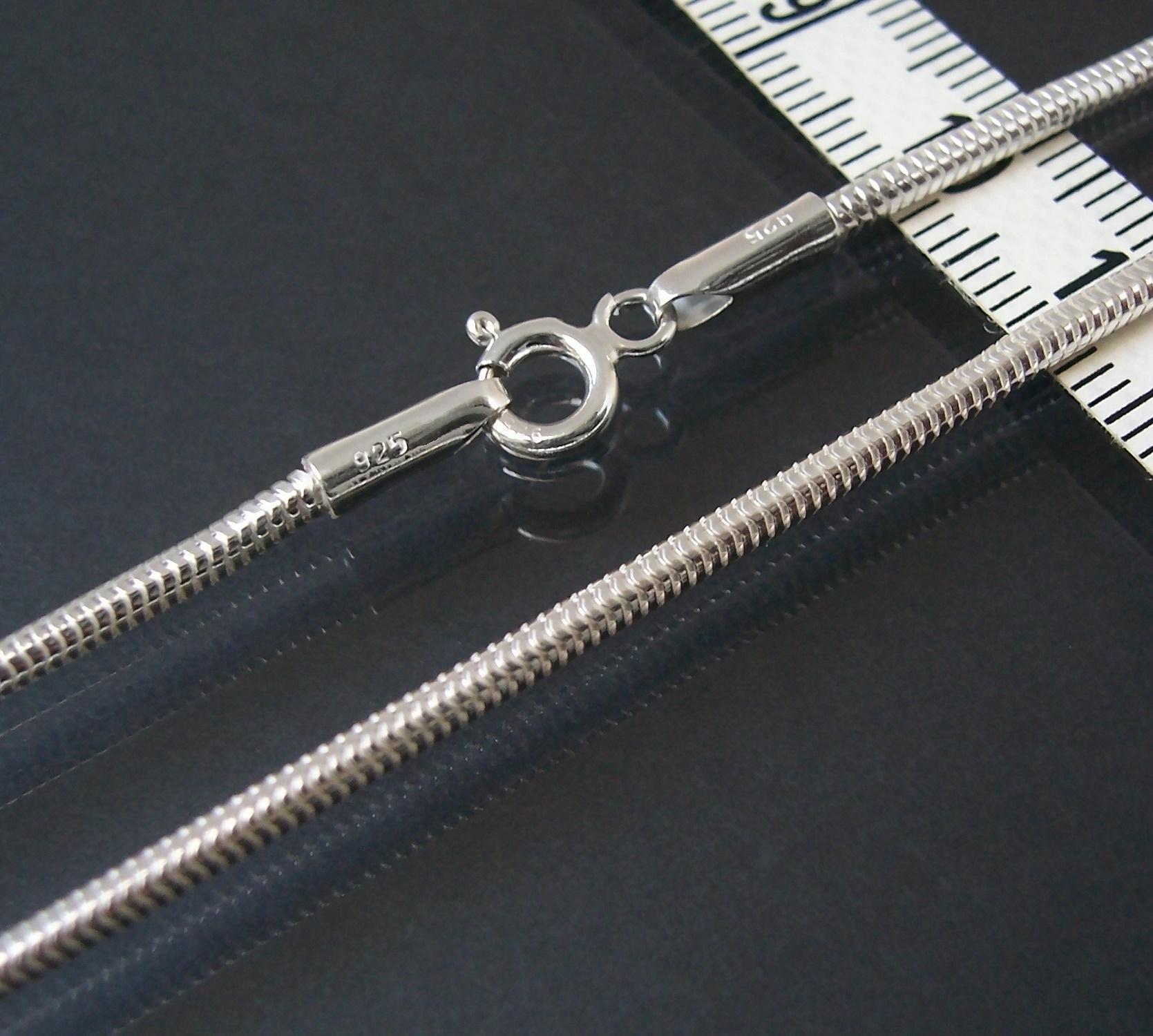 Kette Schlangenkette 925 Silber massiv 2,1mm Niklarson 19cm 18221-19