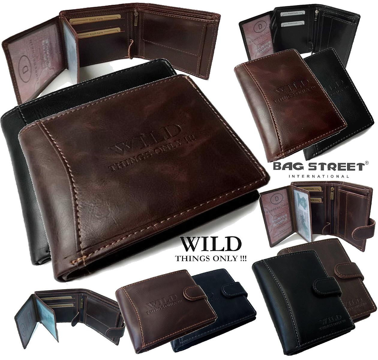 PV4* Herren Portemonnaie Leder-Look USA Geldbörse Wild Things Neu