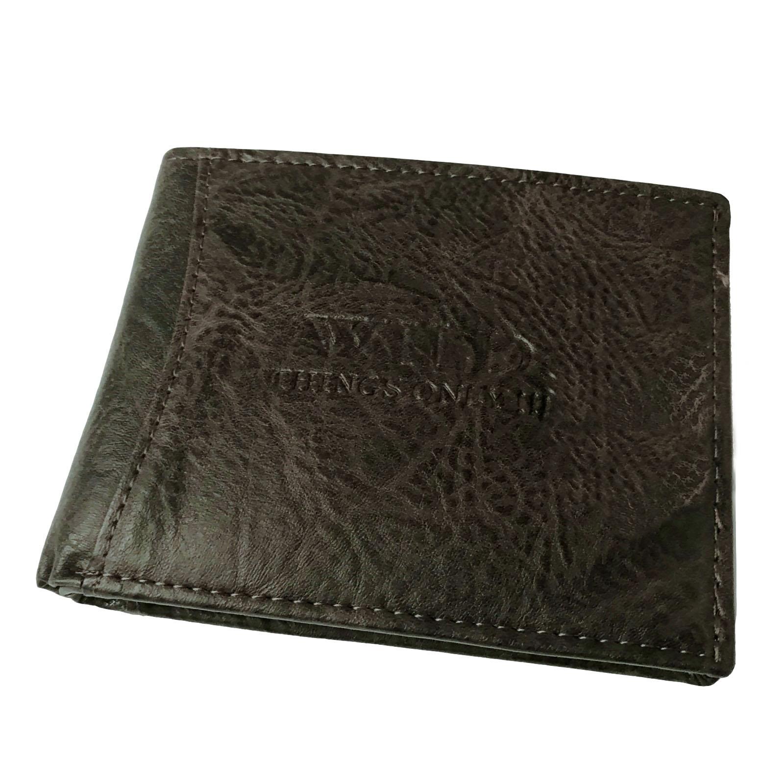 Herren Portemonnaie Leder-Look Geldbörse Bag Street antikbraun Po2600