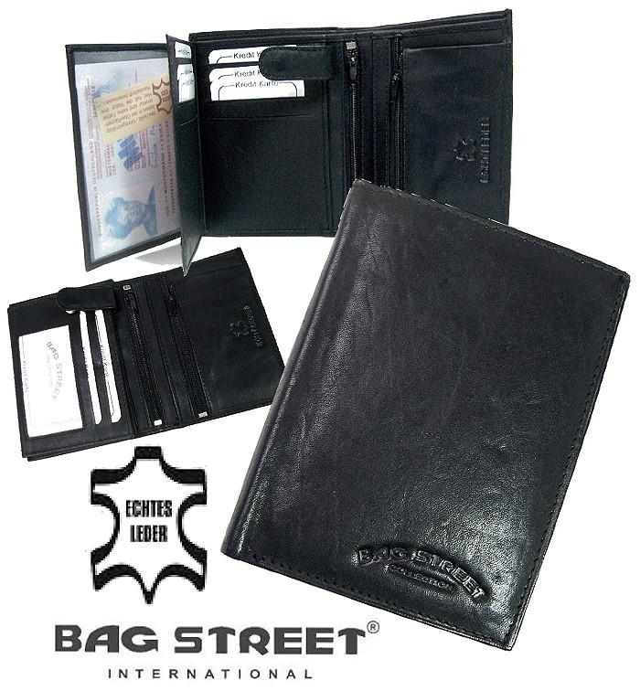 c53924a51b81b3 Po631* Herren Portemonnaie schwarz echt Leder Geldbörse neu