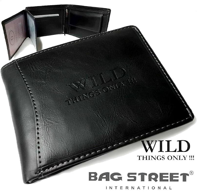 7ba4eb0d1ee80 Herren Portemonnaie Leder-Look Geldbörse Bag Street schwarz Po835