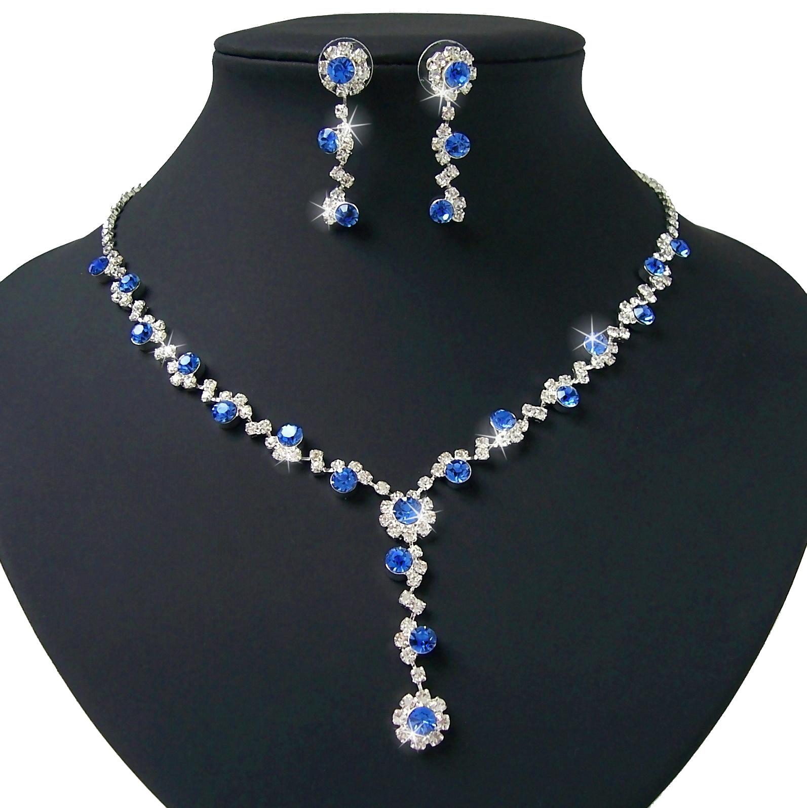 Schmuckset Collier Kette Ohrringe Silber pl royal Hochzeit Braut S1015