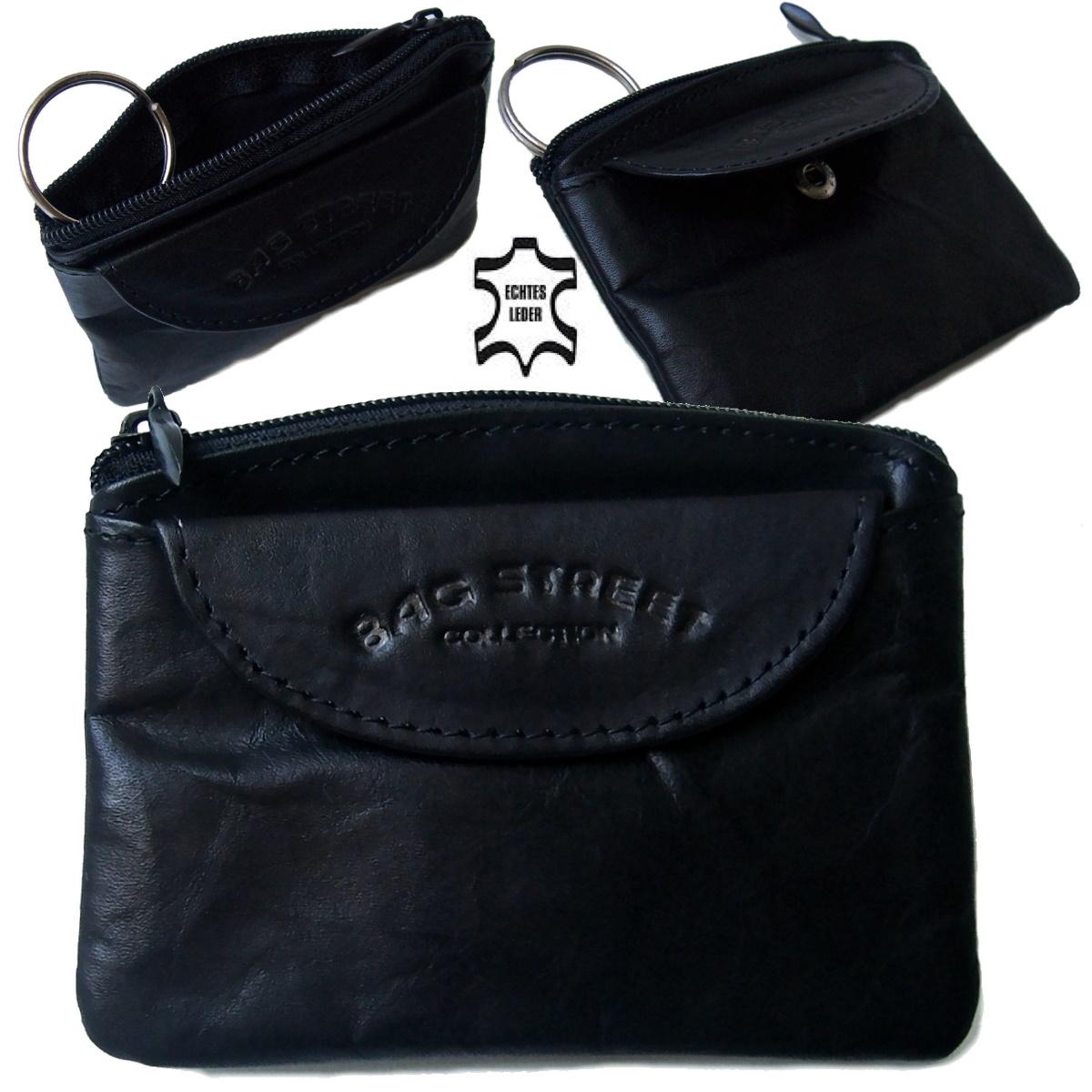 Sc2134* Schlüsseltasche Bag Street 10x7,5cm  Leder black 1Schlüsselring