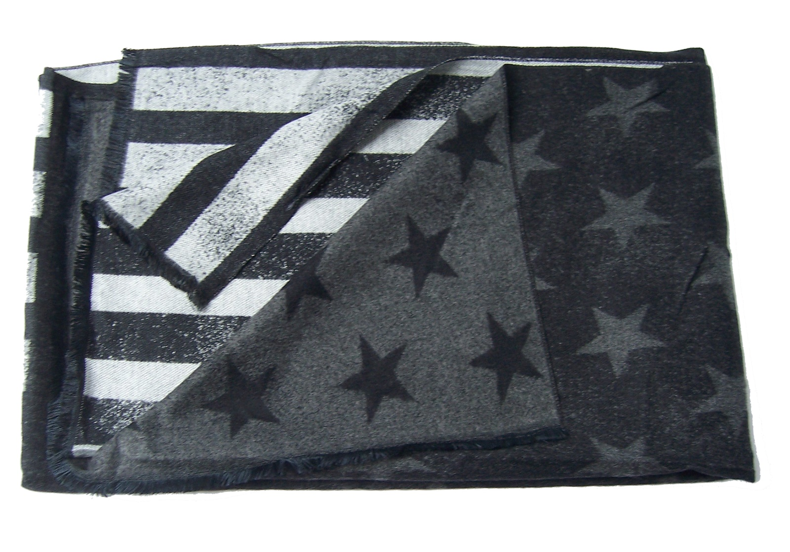 Schal Winter Stars and Stripes Sterne 185cm schwarz grau Herren T2859