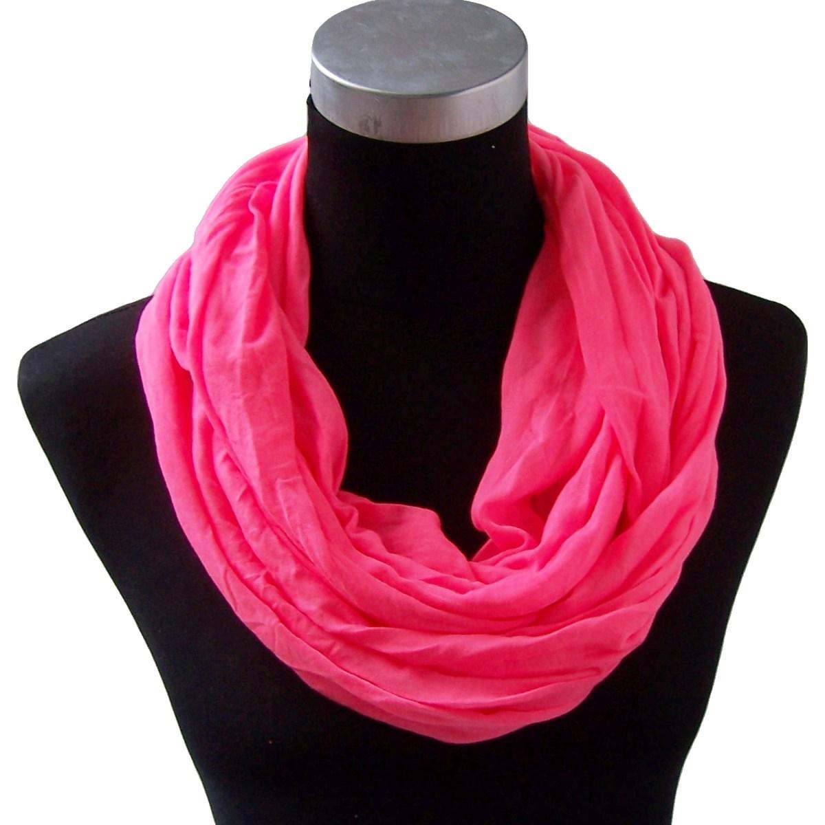 Loop Schal NEON Pink Tuch Baumwolle Rundschal unisex T5095