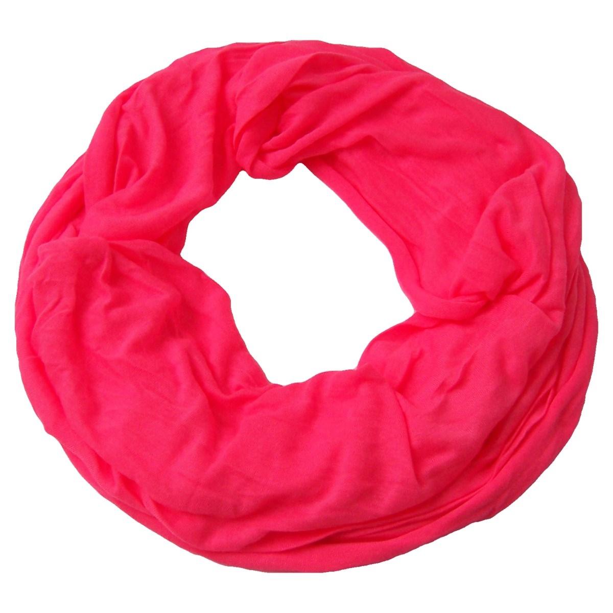 Niklarson Loop Schal Tuch neon-pink Rundschal 160x45cm unisex Schlauch T5095