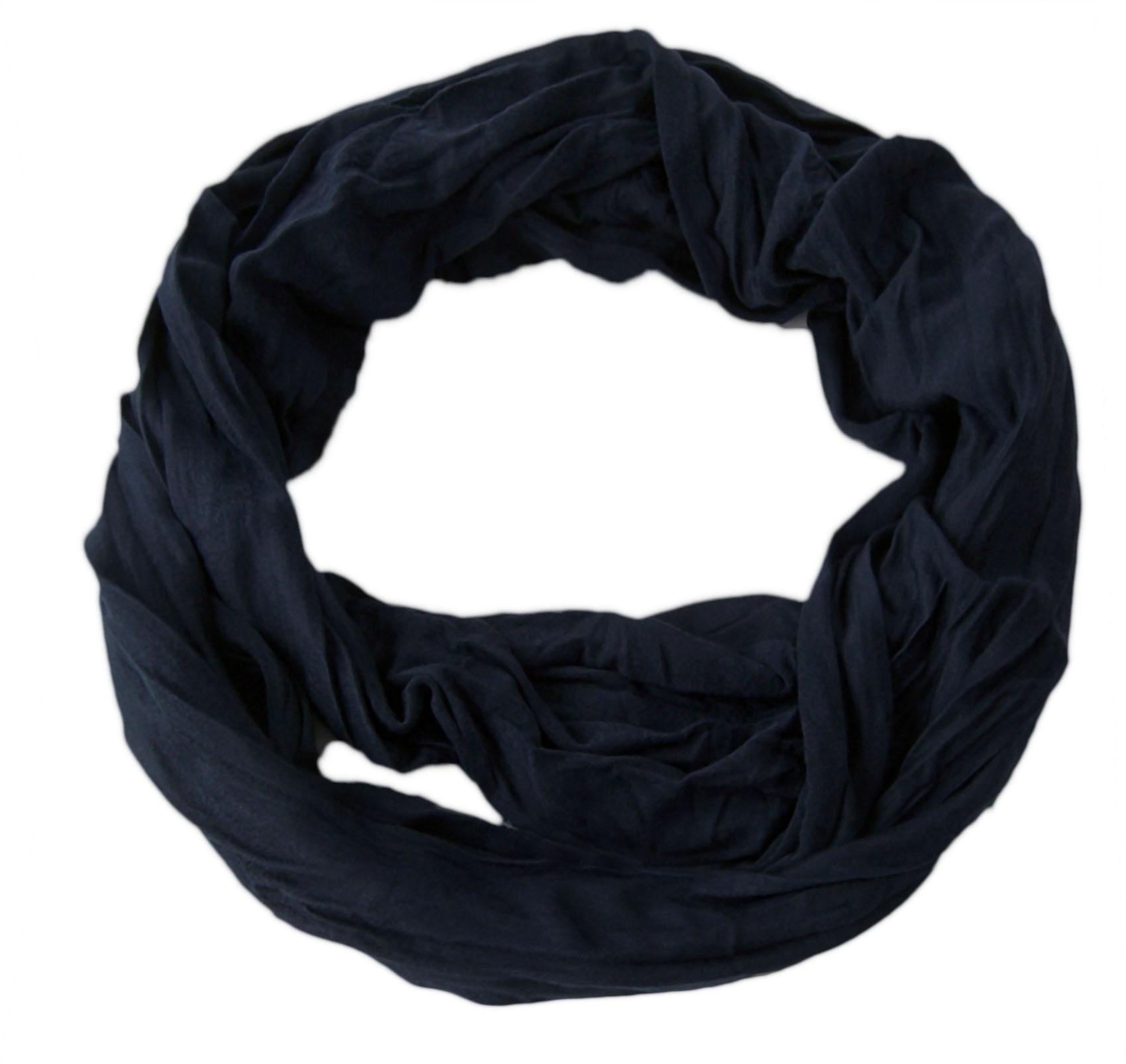 Niklarson Loop Schal Tuch dunkelblau Rundschal 160x45cm unisex Schlauch T7011