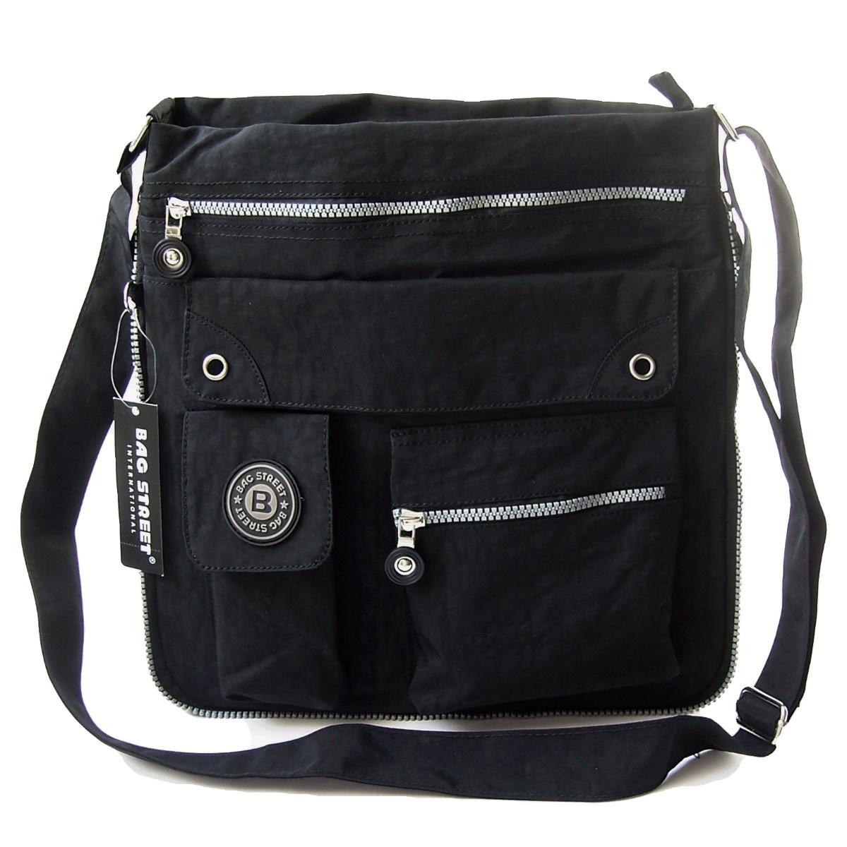 Tasche Umhängetasche Handtasche Bag Street Nylon Schwarz Ta5091
