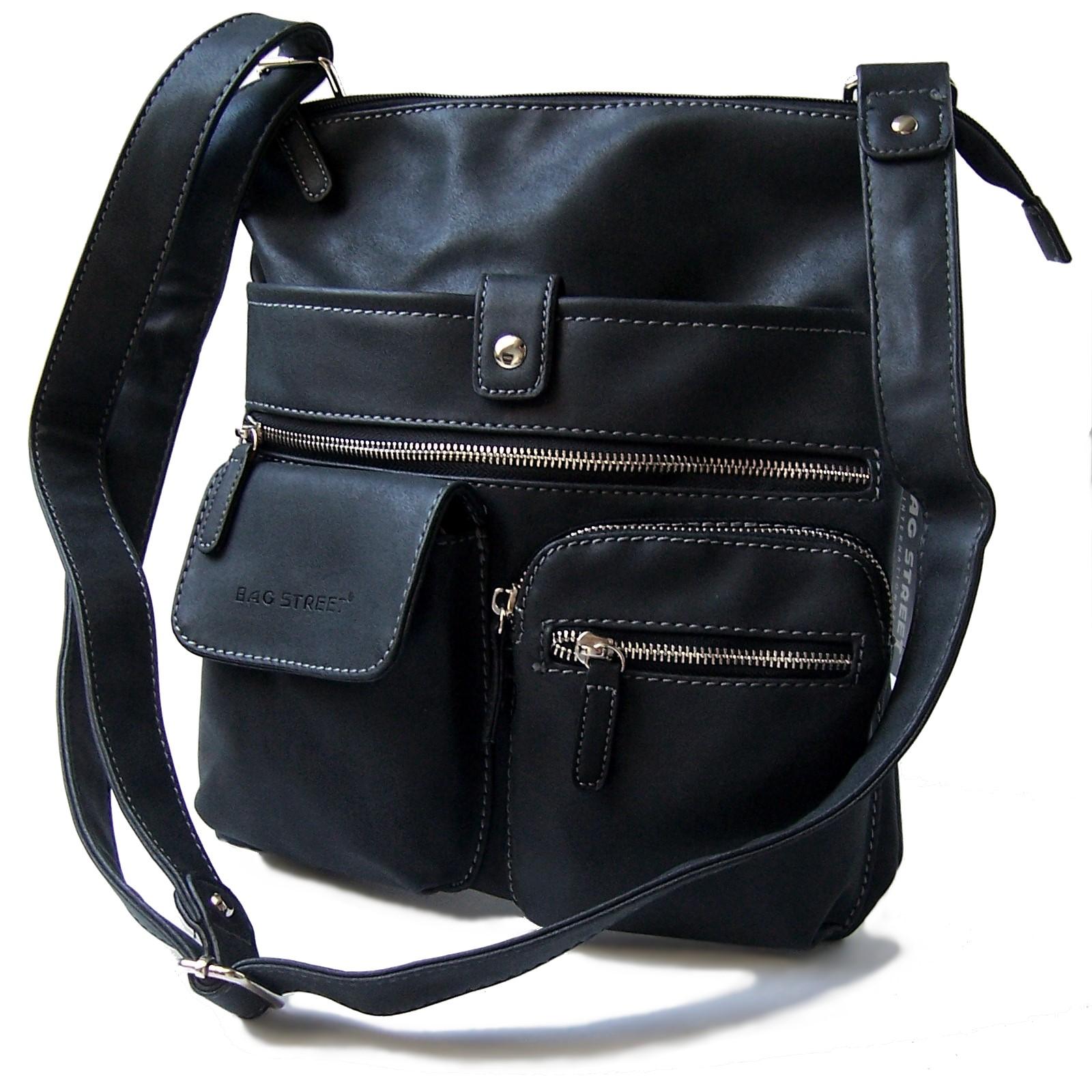 Tasche Handtasche Schultertasche Bag Street schwarz Damen Ta5137