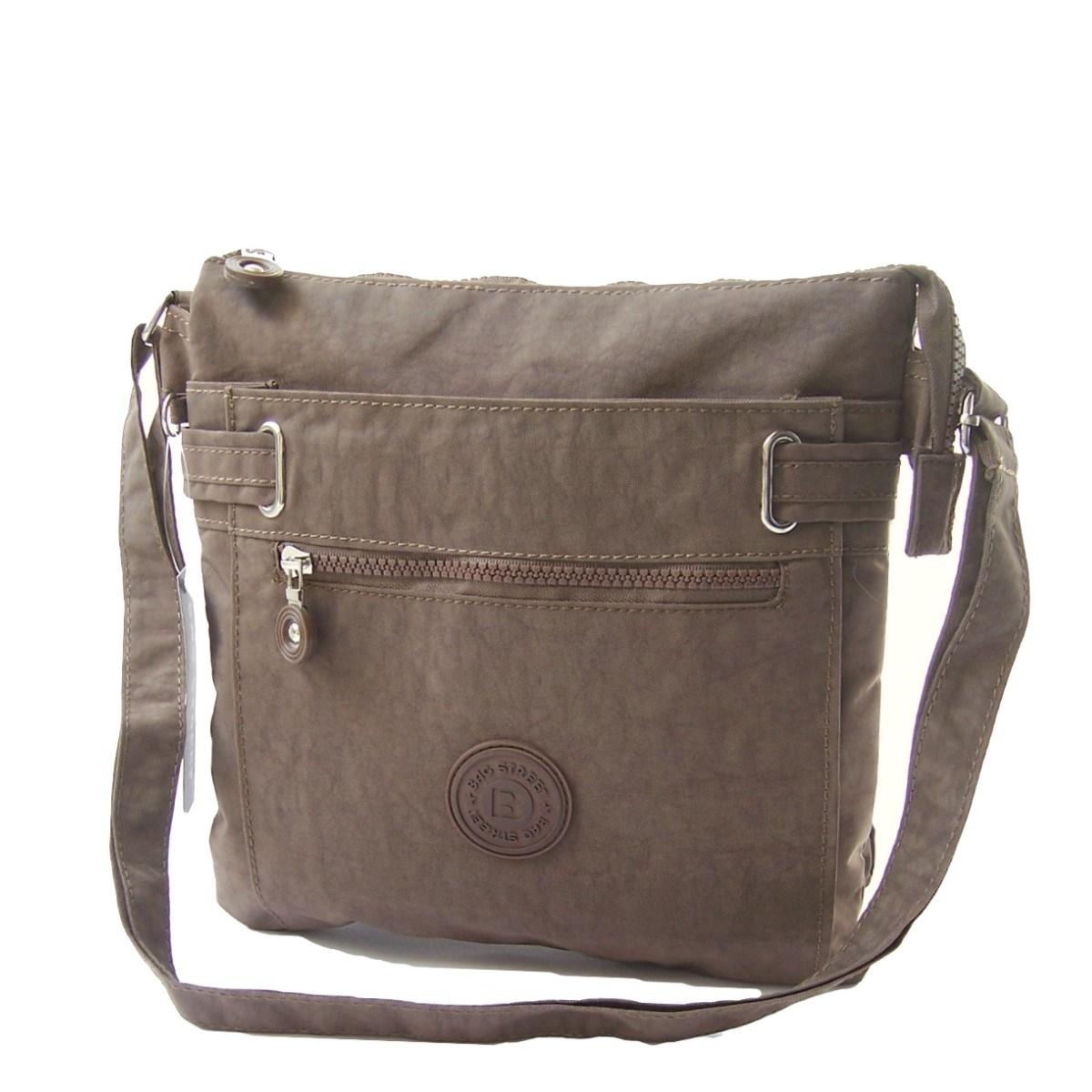 Tasche Umhängetasche Handtasche Bag Street Nylon braun Ta5145