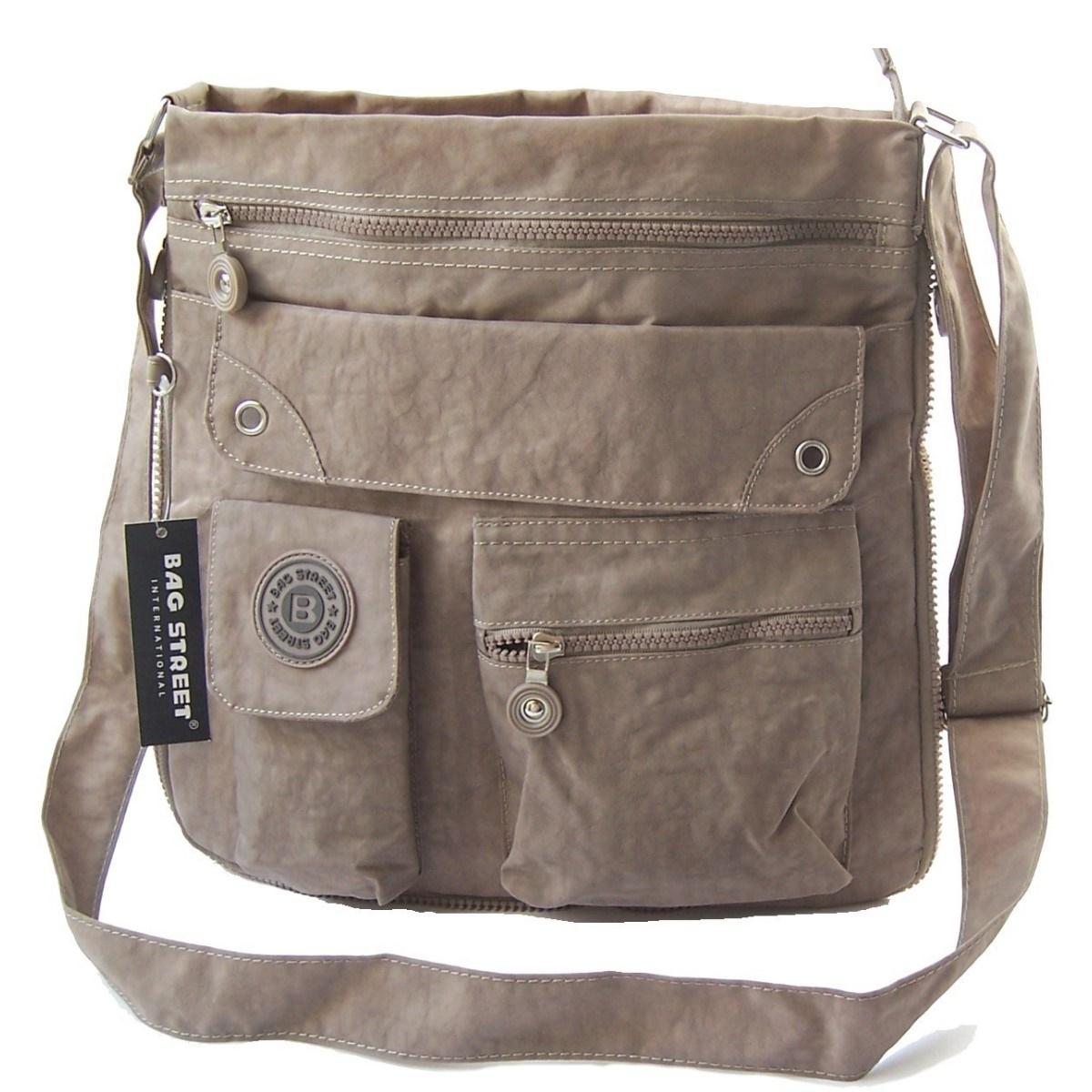 Tasche Umhängetasche Handtasche Bag Street Nylon Beige Ta5204