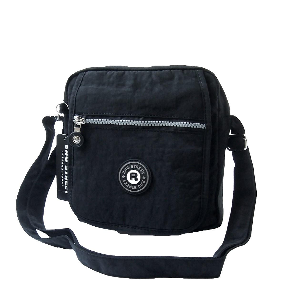 Tasche Umhängetasche Handtasche Bag Street Nylon Schwarz Ta5205