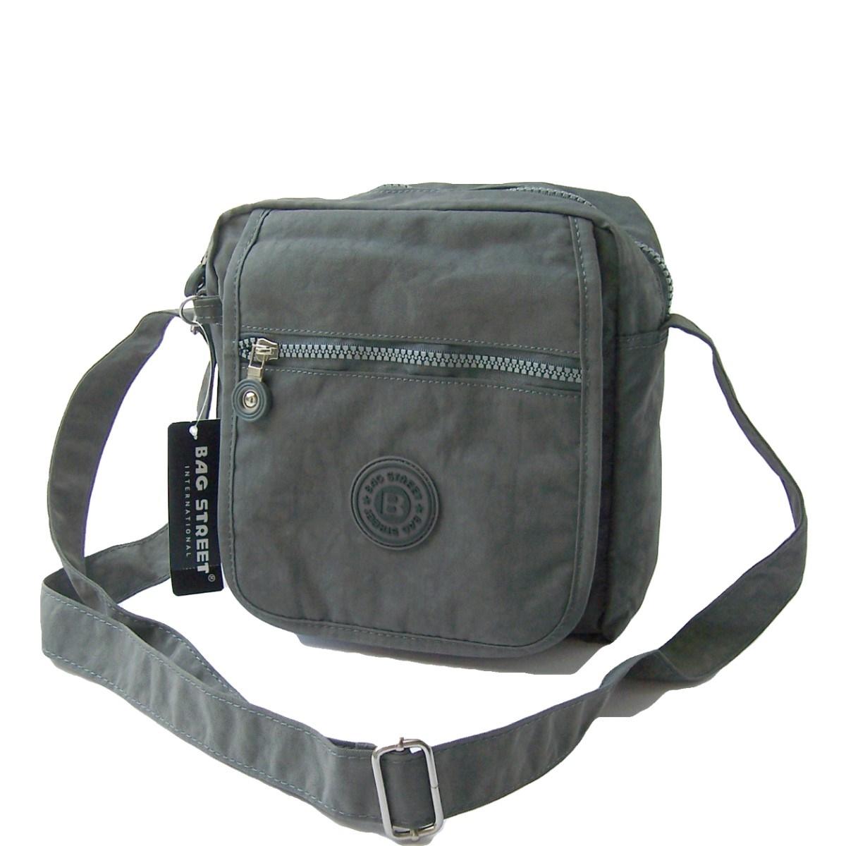 Tasche Umhängetasche Handtasche Bag Street Nylon Grau Ta5207