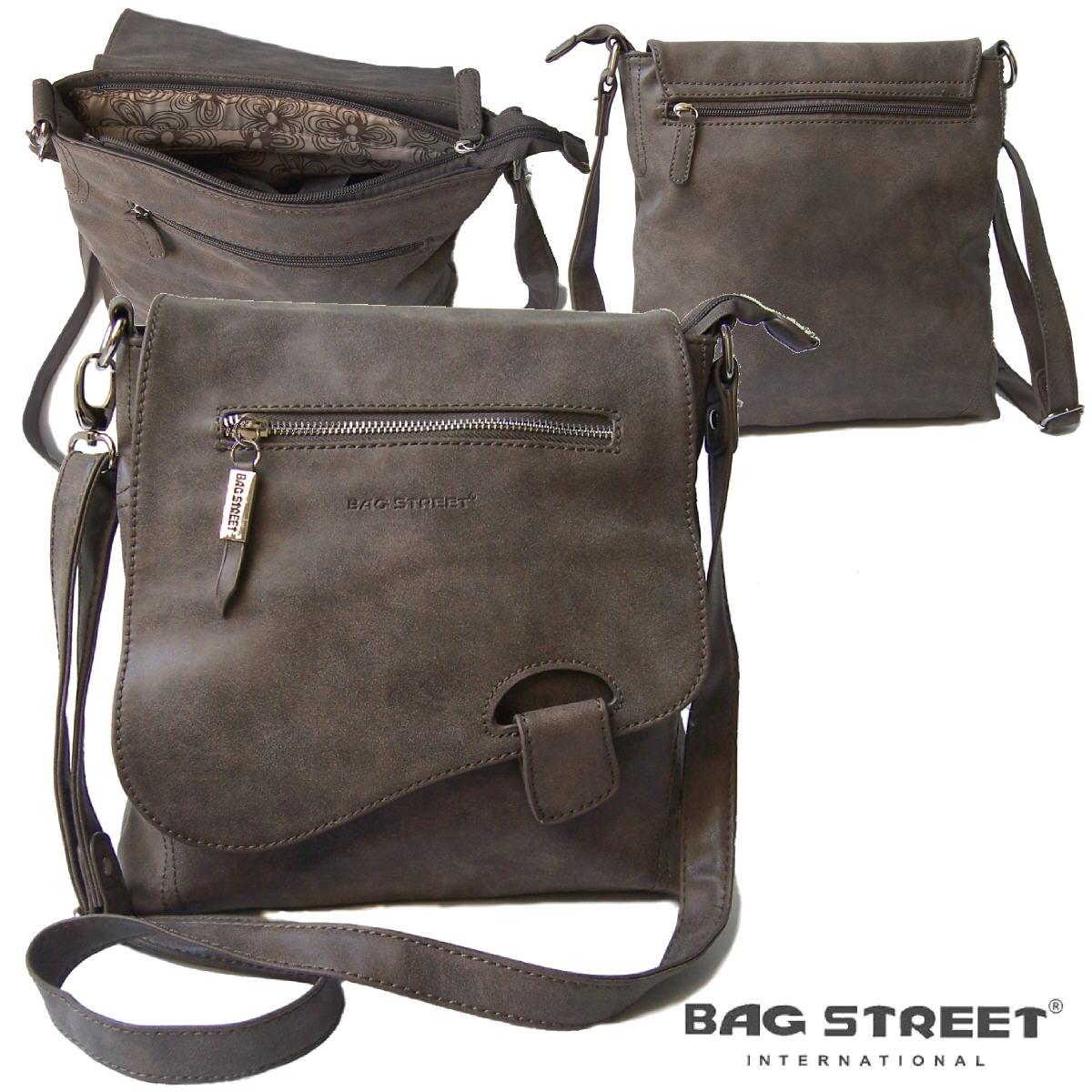Umhängetasche Damen Tasche Handtasche usedLook taupe Bag Street Ta6008