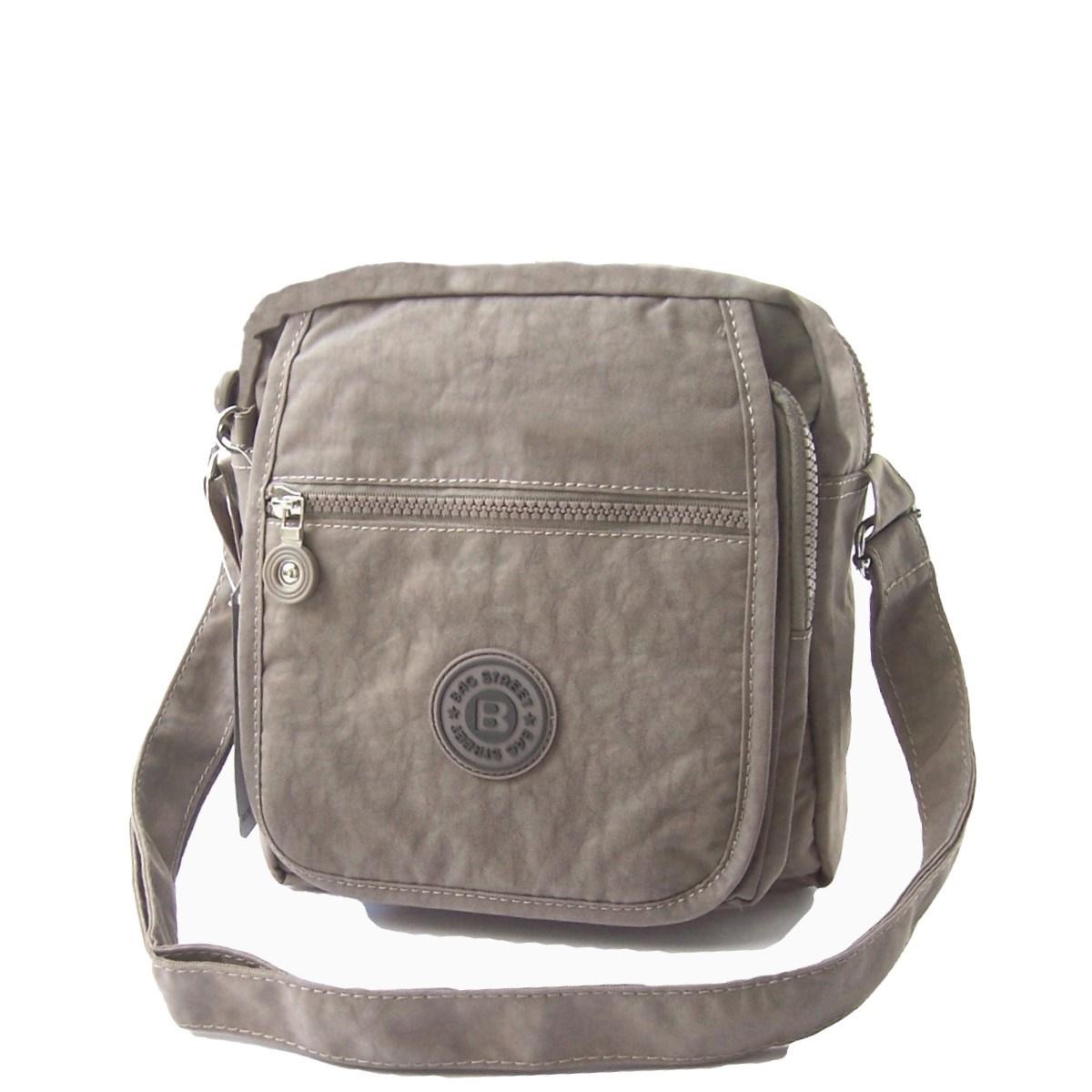 Tasche Umhängetasche Handtasche Bag Street Nylon beige Ta6010