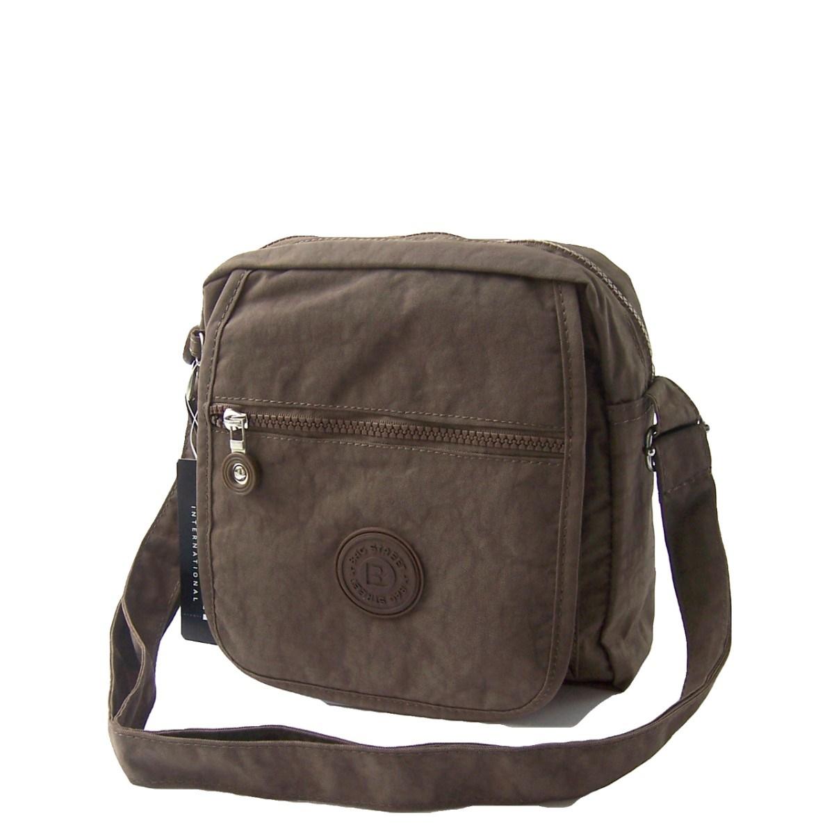 Tasche Umhängetasche Handtasche Bag Street Nylon braun Ta6013