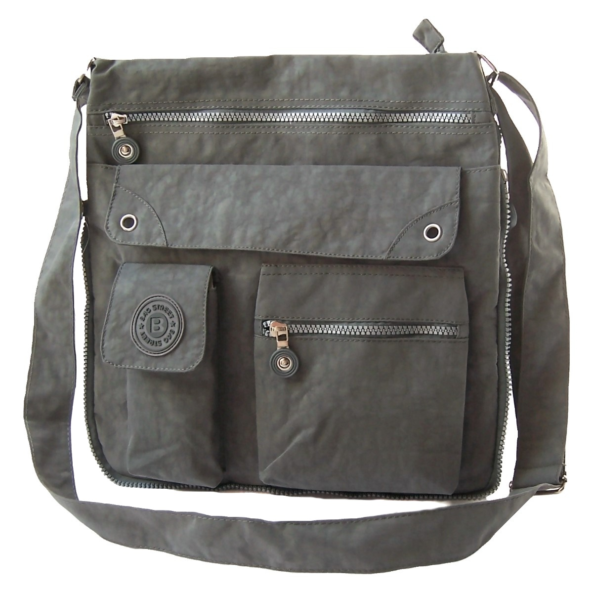 Tasche Umhängetasche Handtasche Bag Street Nylon Grau Ta7033