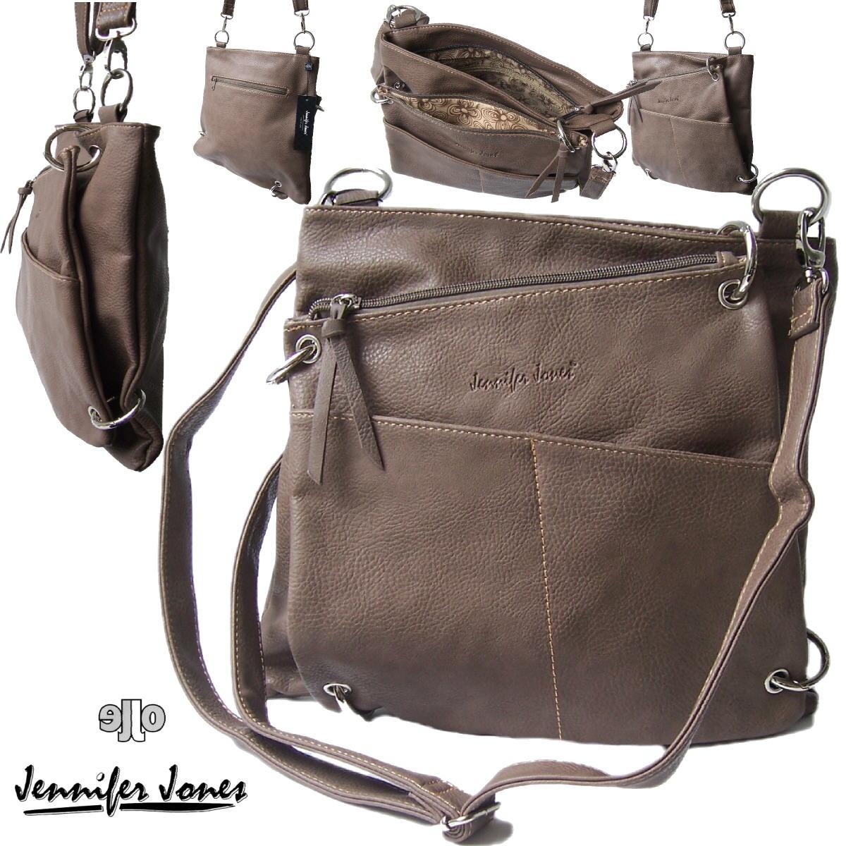 Tasche Handtasche 2in1 Schultertasche J.Jones taupe Damentasche Ta7040
