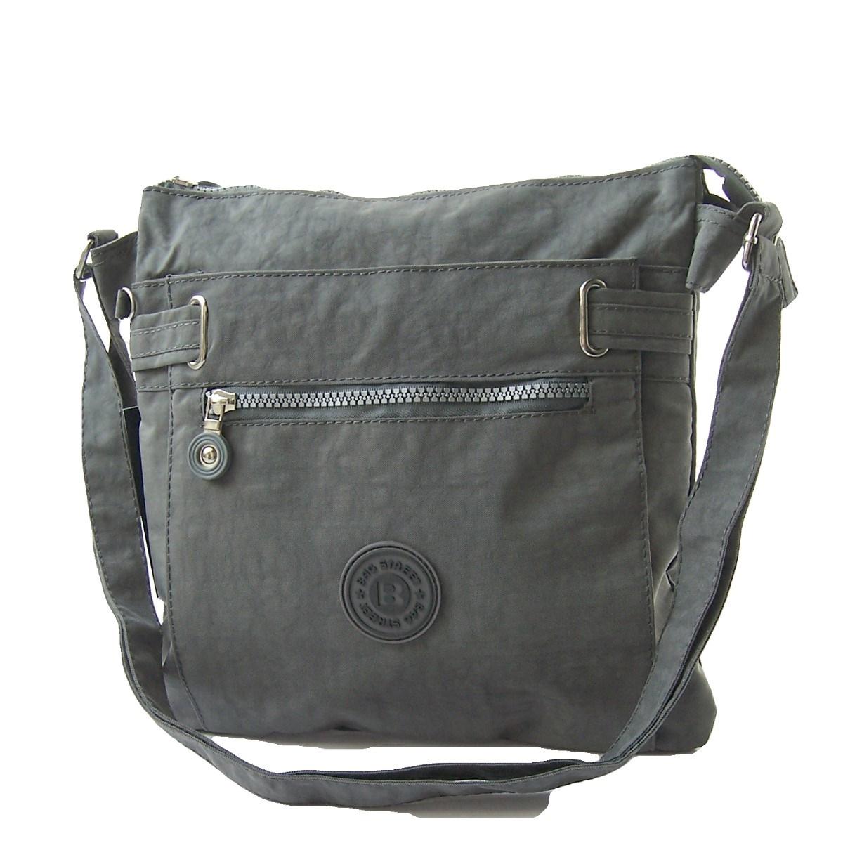 Tasche Umhängetasche Handtasche Bag Street Nylon grau Ta7044