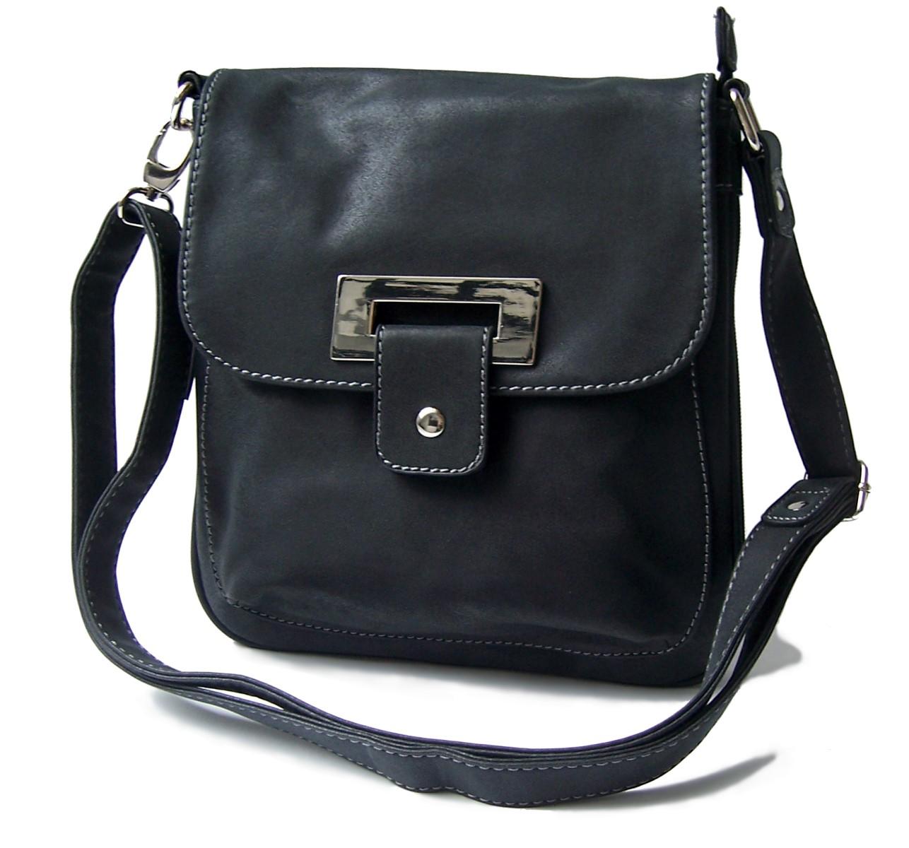 bd62b011161c0 Handtasche Umhängetasche Leder-Look schwarz Damen Bag Street Ta8004