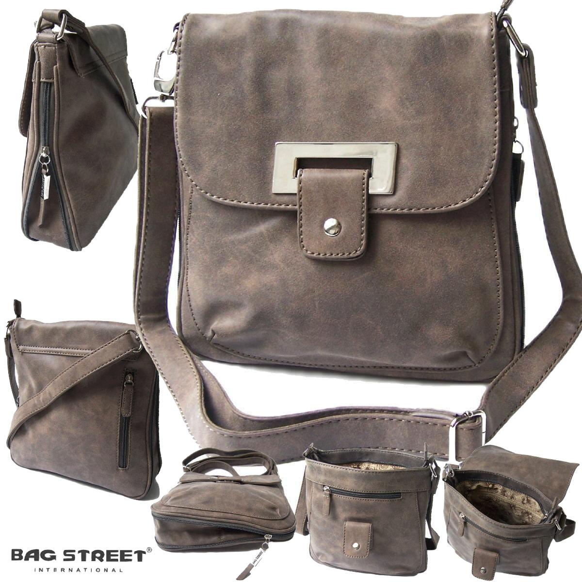 Tasche Schultertasche Handtasche taupe Damen Bag Street washout Ta8035