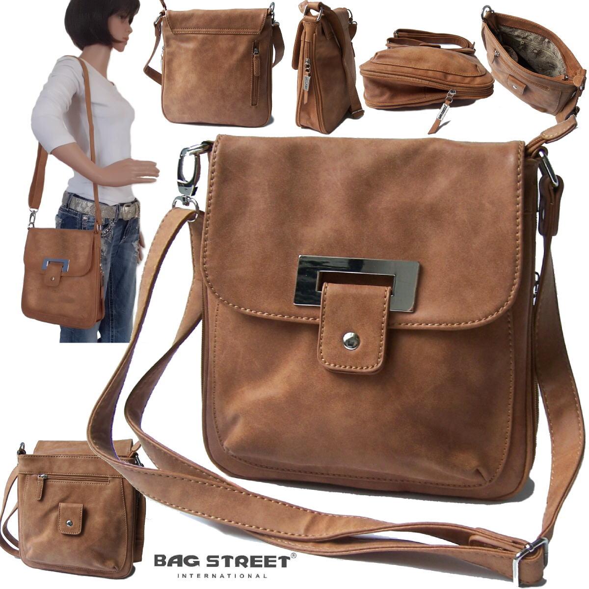 Tasche Handtasche Damen Umhängetasche camel Bag Street Ta8041