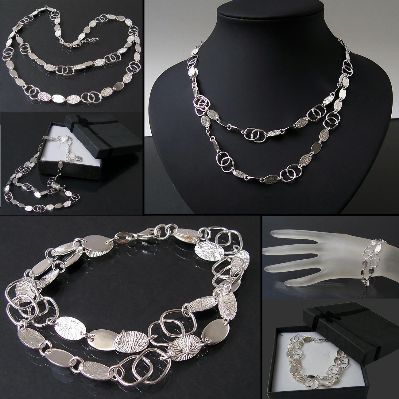 Collier Kette 925 Silber Armband Sterlingsilber Armkette Halskette ... 6e153ecd80