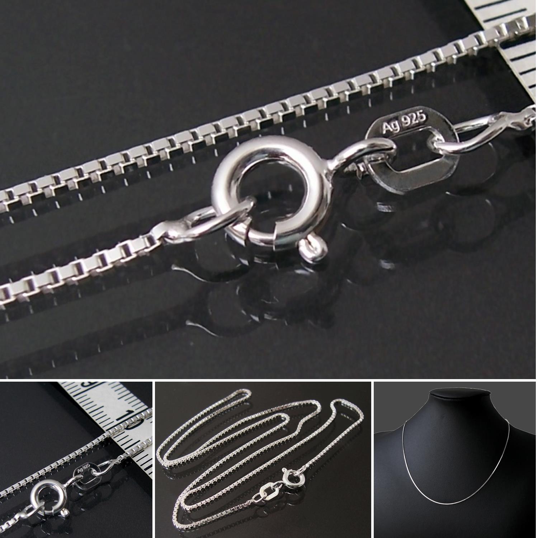 verchromt Kugelkette mit Ring verschiedene Längen NEU