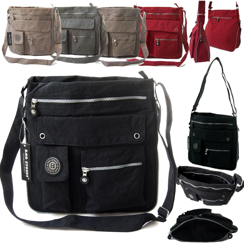 Tasche Umhängetasche Handtasche 33x31cm Bag Street Nylon Crossover VTa13