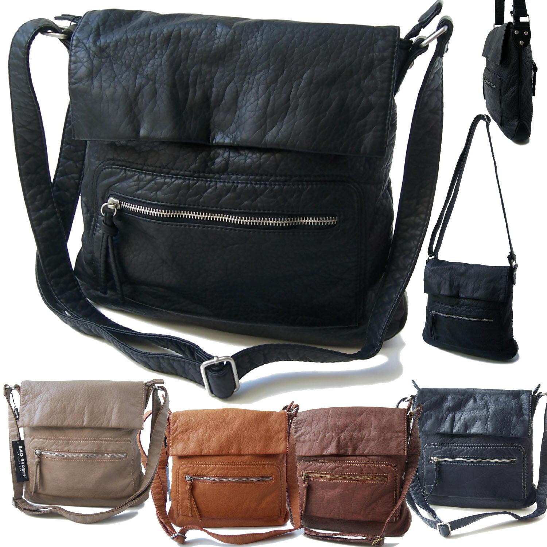 Handtasche Umhängetasche Leder-Look Damen Bag Street VTa14