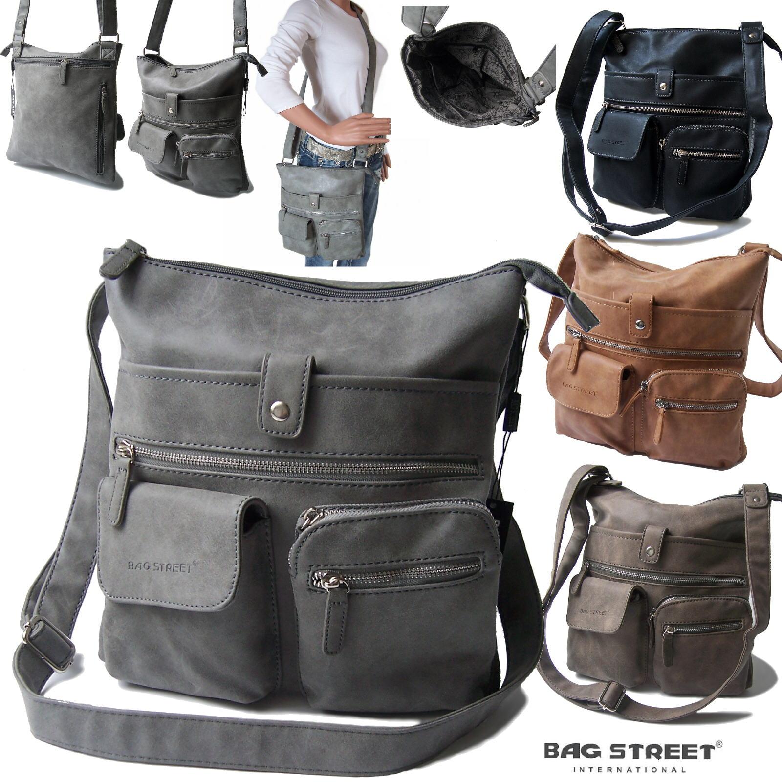 Tasche Handtasche Schultertasche Bag Street washout Damen VTa8